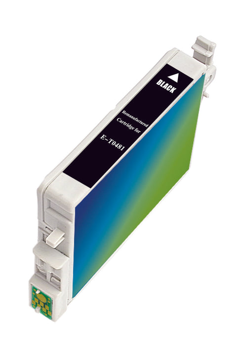 Epson T048120 (T0481) Black Remanufactured Ink Cartridge