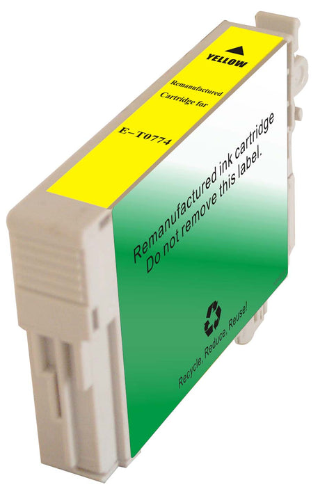 Epson T077420 (77) Yellow Remanufactured Ink Cartridge
