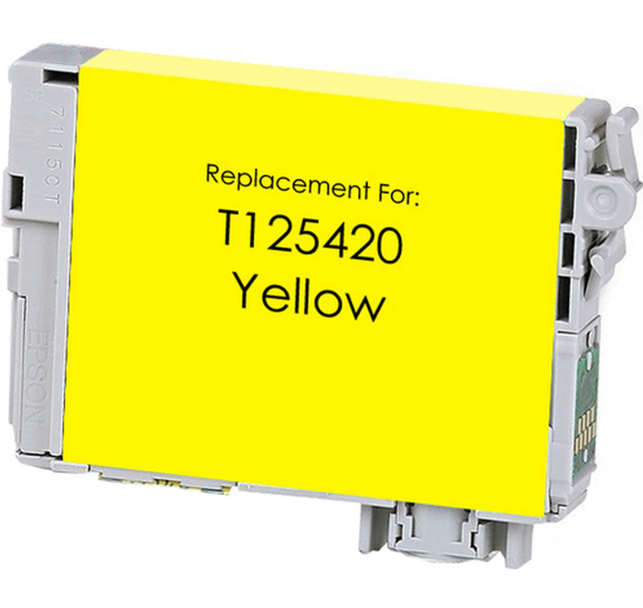 Epson T125420 (125) Yellow Remanufactured Ink Cartridge