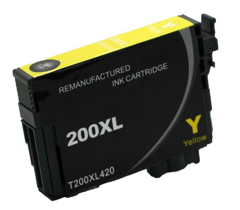 Epson T200XL420 (200XL) Yellow Remanufactured U.S. Made Ink Cartridge