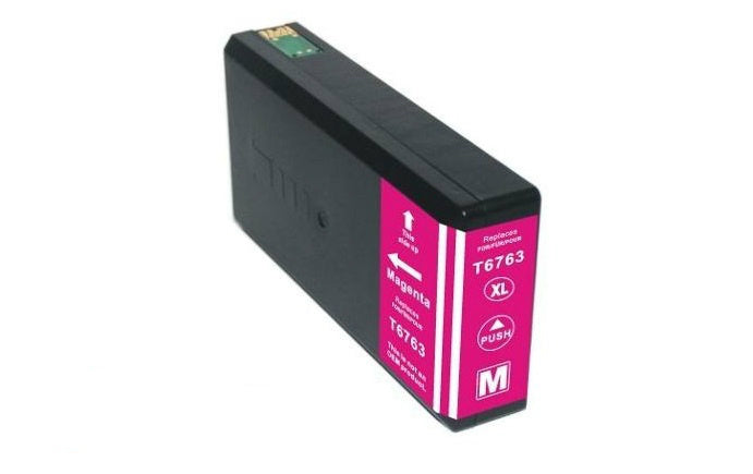 Epson T6763XL (676XL) Magenta Remanufactured Ink Cartridge