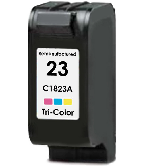 HP C1823A (HP 23) Tri-Color Remanufactured U.S. Made Ink Cartridge