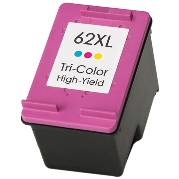 HP C2P07AN (HP 62XL) Tri-Color Remanufactured Ink Cartridge