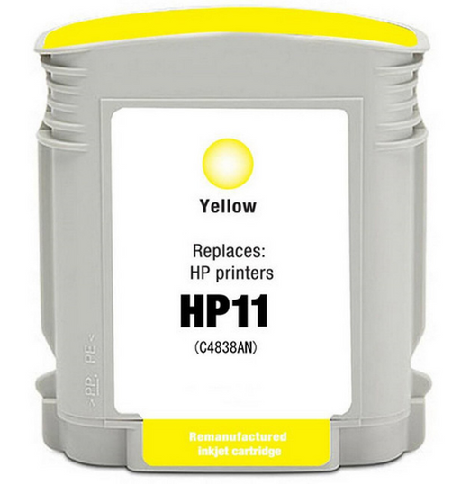 HP C4838AN (HP 11) Yellow Remanufactured U.S. Made Ink Cartridge