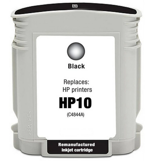 HP C4844A (HP 10) Black Remanufactured U.S. Made Ink Cartridge