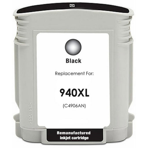 HP C4906AN (HP 940XL) Black Remanufactured Ink Cartridge