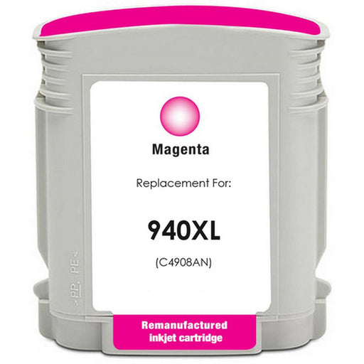 HP C4908AN (HP 940XL) Magenta Remanufactured Ink Cartridge
