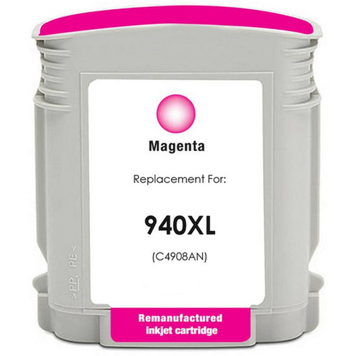 HP C4908AN (HP 940XL) Magenta Remanufactured U.S. Made Ink Cartridge
