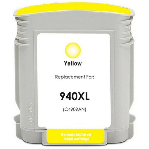 HP C4909AN (HP 940XL) Yellow Remanufactured Ink Cartridge