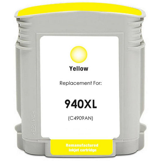 HP C4909AN (HP 940XL) Yellow Remanufactured U.S. Made Ink Cartridge
