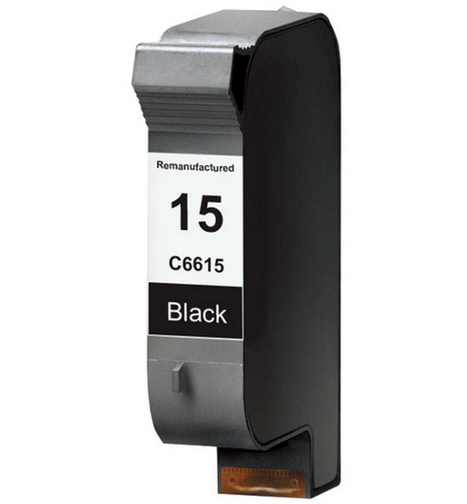HP C6615A (HP 15) Black Remanufactured Ink Cartridge