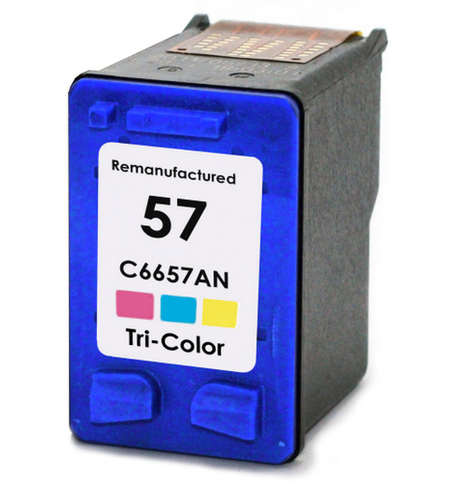 HP C6657A (HP 57) Tri-Color Remanufactured Ink Cartridge