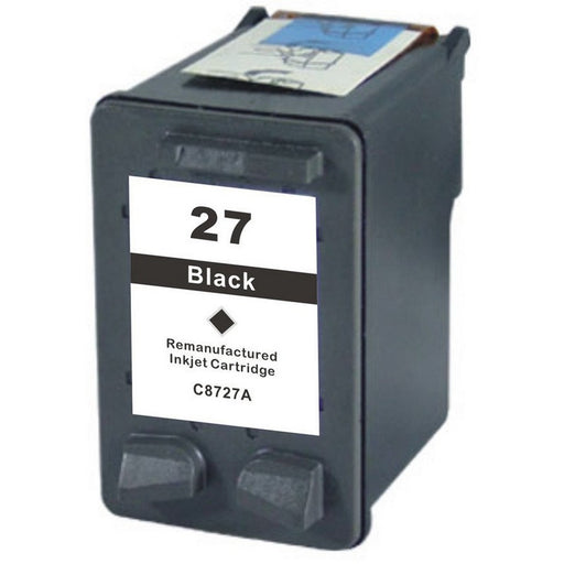 HP C8727A (HP 27) Black Remanufactured U.S. Made Ink Cartridge