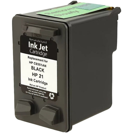 HP C9351AN (HP 21) Black Remanufactured U.S. Made Ink Cartridge