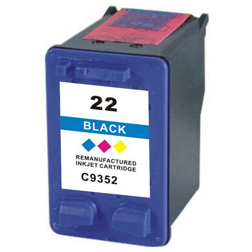 HP C9352AN (HP 22) Color Remanufactured U.S. Made Ink Cartridge