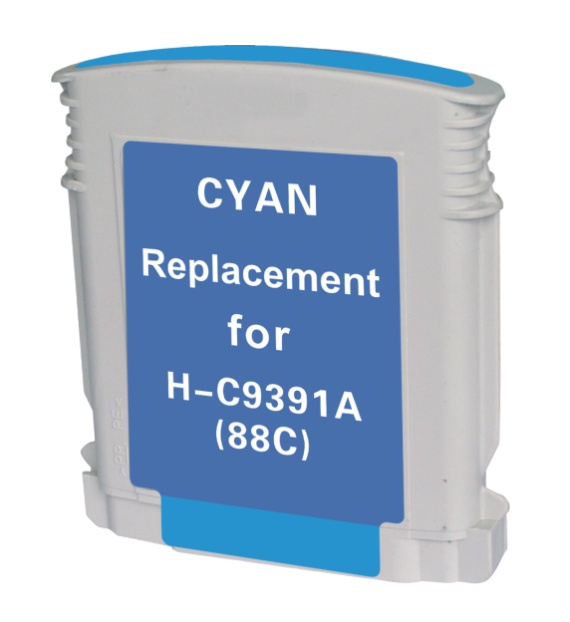 HP C9391AN (C9386AN) (HP 88XL) Cyan Remanufactured Ink Cartridge