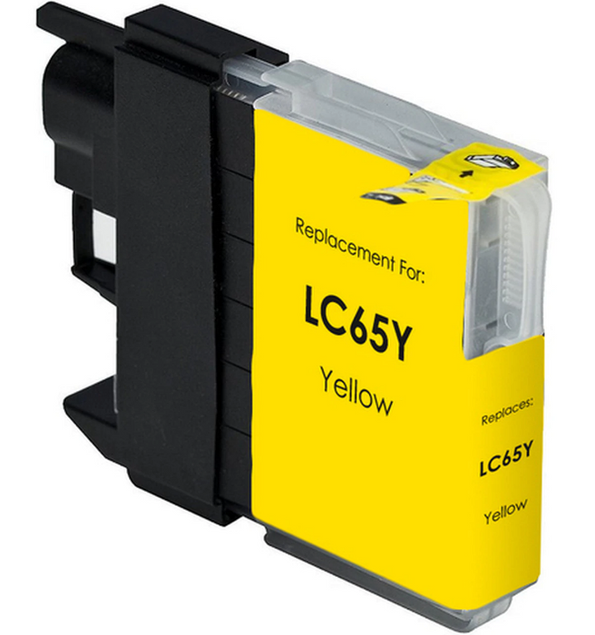 Brother LC61Y / LC65Y Yellow Compatible Ink Cartridge