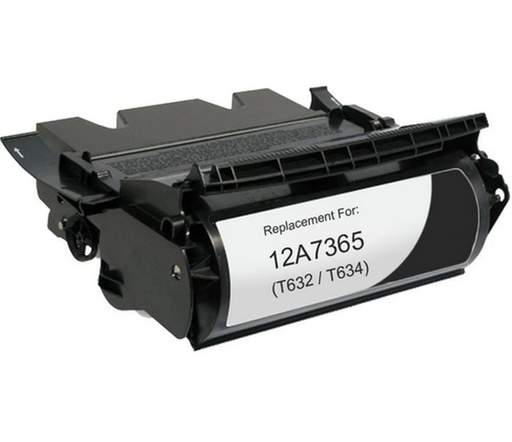 Lexmark 12A7365 Black Compatible US Made Laser Toner