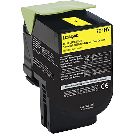 Lexmark 70C1HY0 (701HY) Yellow Compatible Laser Toner