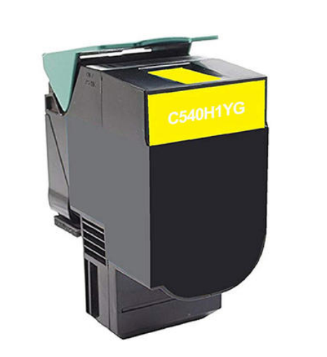 Lexmark C540H1YG Yellow Compatible U.S. Made Laser Toner