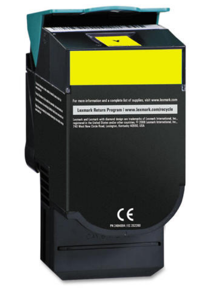 Lexmark C544X1YG Yellow Compatible U.S. Made Laser Toner