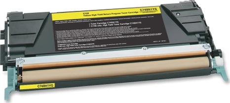 Lexmark C748H1YG Yellow Compatible U.S. Made Laser Toner
