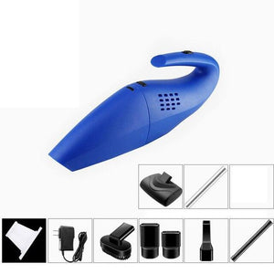 Mini Handheld Car Vacuum Cleaner Wheels Need Blue