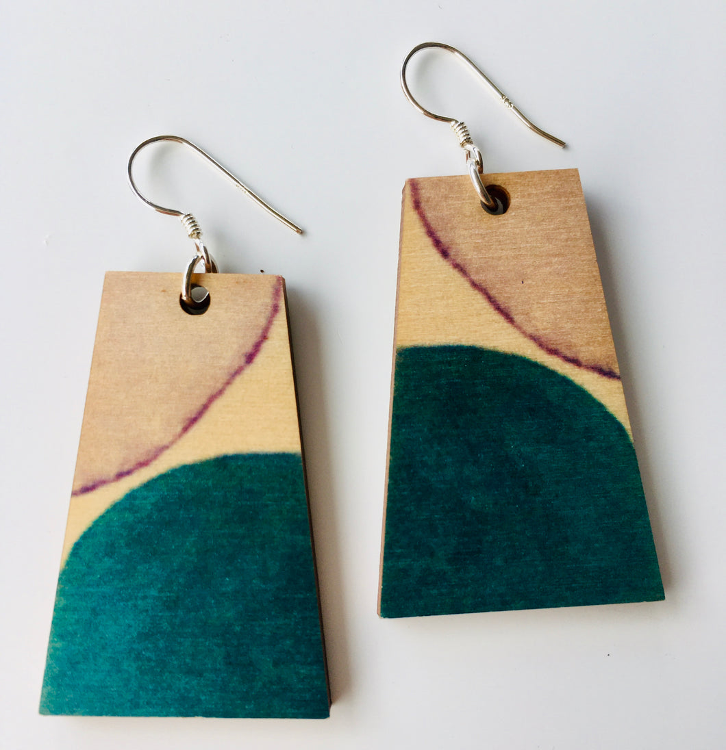 Esther Jane Trapezium earrings 3.5x2.5cm