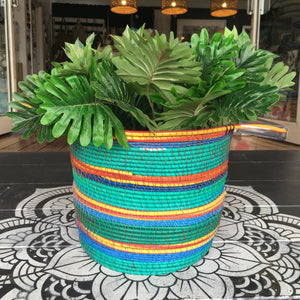 Gabrielle Powell Teal electrical wire basket