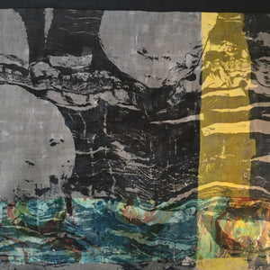 Mirjam Aigner 'Moonbeam over Beach' Textile art (section)