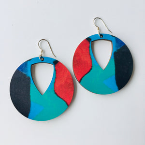 Esther Jane Cut-out disc earrings 4.5cm