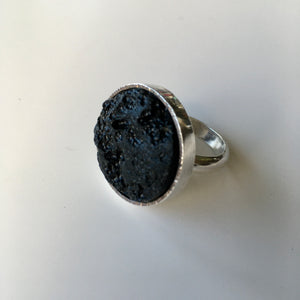 Sharon Cornthwaite Tektite and sterling silver ring