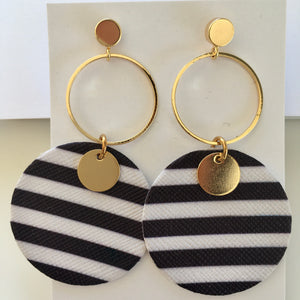 Ochiltree Designs Leather disc earrings