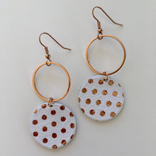 Load image into Gallery viewer, Ochiltree Designs Leather disc earrings