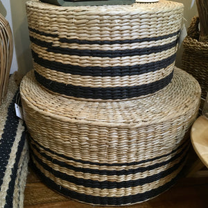 Ottoman - Striped straw