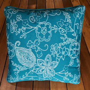 Cushion - Teal floral