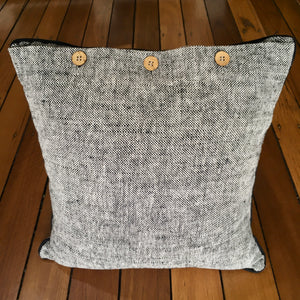 Cushion - Tweed style with white piping
