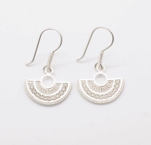Gaviota Silver earrings