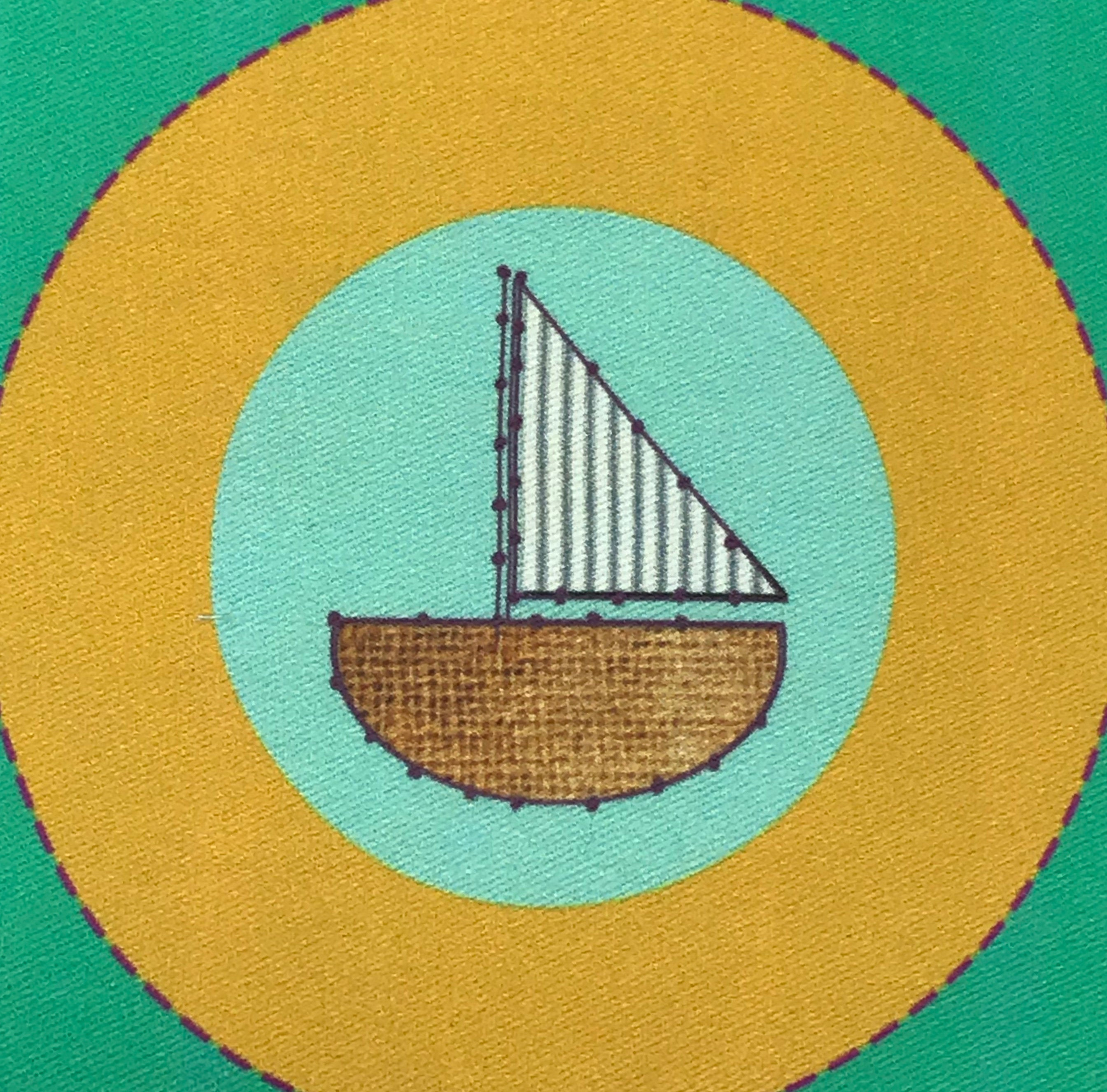 Sew Together- Parent and Kid Embroidery Kit- Boat and Trolly