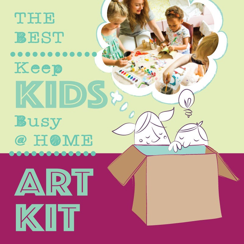 The BEST Keep Kids Busy at Home Art Kit