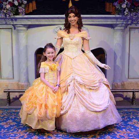 Disney inspired Belle dress - custom design