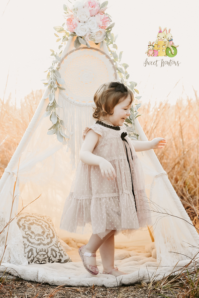 Abella Lace and tulle dress