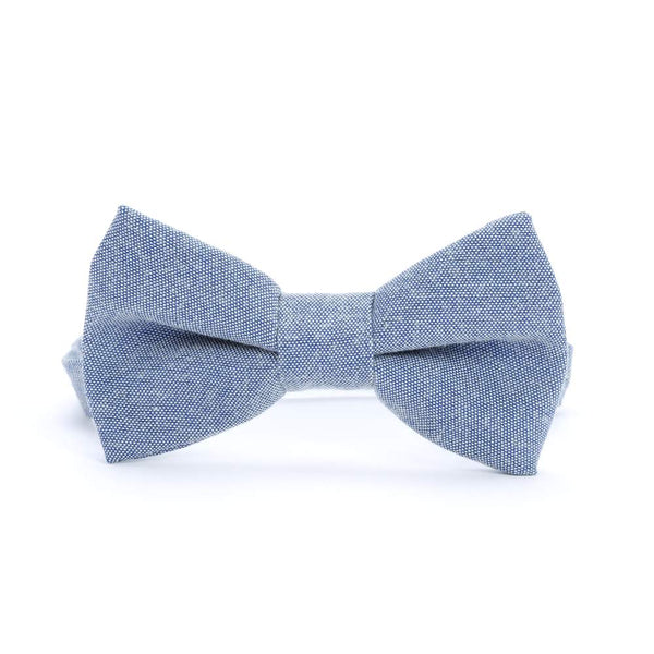 Boys Chambray Bow Tie - Blue