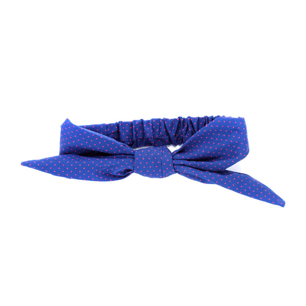 Girls Tie-Up Headwrap - Polka Dots - See more colors!
