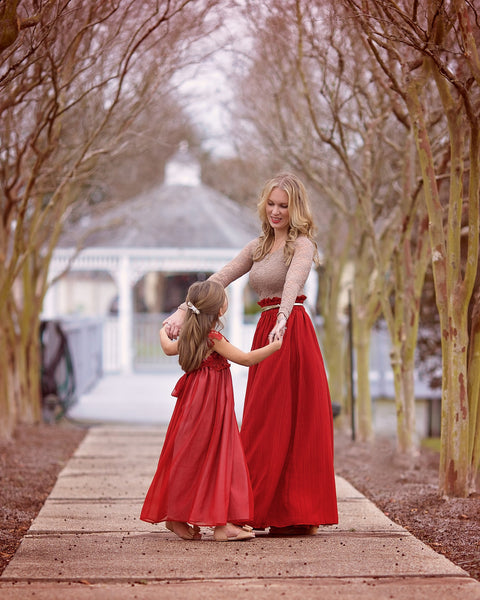 Pretty in Red Maxi dress