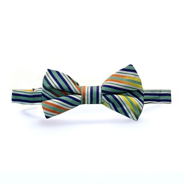 Boys Multi-Green Color Bow Tie
