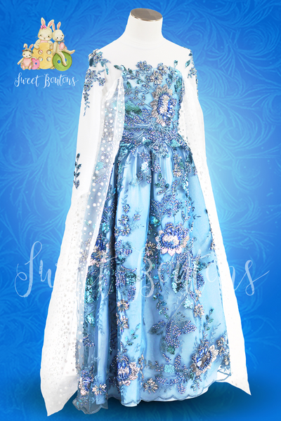 Couture Ice Queen Beaded Gown