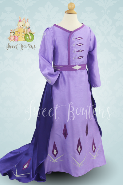 Ice Queen Lilac Dress with train