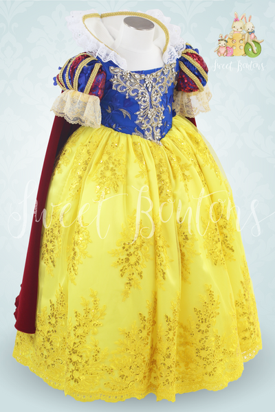 Couture Snow White lace ball gown