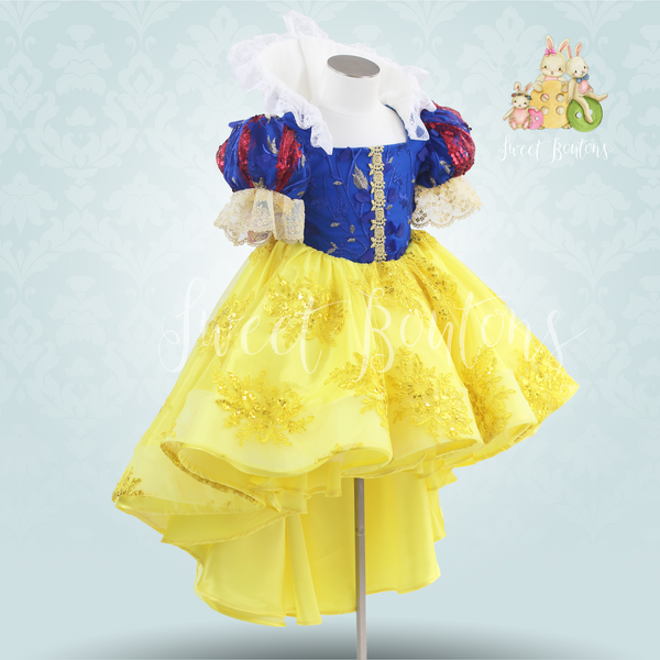 High/Low Snow White Lace dress
